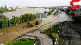 طغیان شبانه دز جاده ساحلی دزفول را غرق کرد