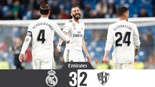 خلاصه دیدار رئال مادرید 3_2 هوئسکا (هفتۀ بیستونهم لالیگای اسپانیا)