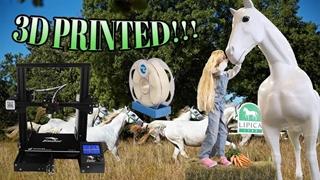 پرینت 3 بعدی مجسمه اسب در سایز واقعی
