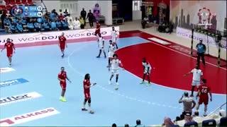 دیدار تیم های الکویت و الشارجه امارات در رده بندی قهرمانی هندبال باشگاه های آسیا2019