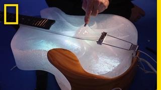 ساخت آلات موسیقی یخی