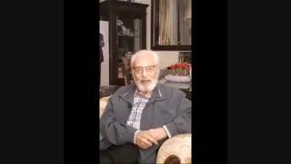 آخرین تصویر و پیام نوروزی استاد جمشیدمشایخی در سال 98