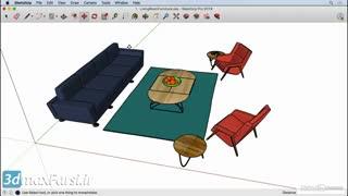 آموزش رایگان  اسکچ آپ SketchUp Rotating an object