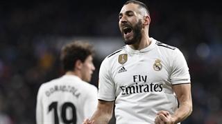 گل اول رئال مادرید به ایبار توسط کریم بنزما
