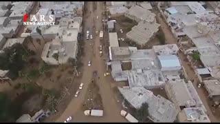 تصاویر هوایی از منطقه سیلزده پلدختر
