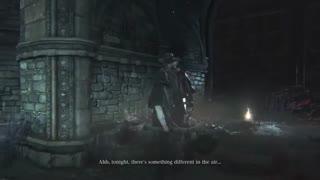 ویدئوی حضور Father Gascoigne به عنوان شخصیت همراه در بازی Bloodborne