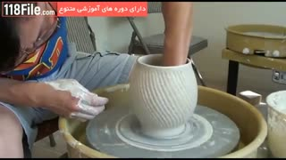 آموزش سفالگری - ساخت گلدان شیک