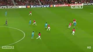حرکات و گلهای لیونل مسی برابر منچستر یونایتد