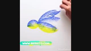 آموزش نقاشی با پاستل روغنی و مداد شمعی