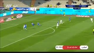 گل اول استقلال خوزستان به استقلال توسط فرید امیری