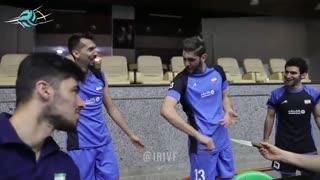 جشن تولد علی رمضانی در تمرین تیم ملی والیبال