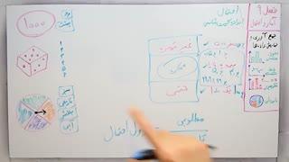 ریاضی 7 - فصل 9 - بخش 3 : احتمال و تجربه و اندازه گیری شانس