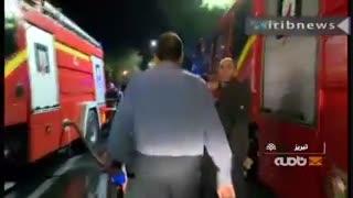 مهار آتش سوزی بازار تبریز در ساعت 3 بامداد