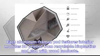 پرینتر سه بعدی و خانه های چندضلعی چسبیده به ساختمان برای بی خانمان