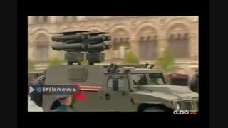 رژه نیروهای مسلح روسیه در حضور پوتین به مناسبت هفتاد و چهارمین سالگرد پیروزی بر آلمان نازی