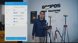 آموزش نحوه اکسپورت و ایمپورت (export  omport) در دستگاه ژئوپوز geopos g10 plus