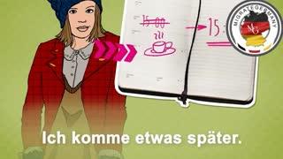 عبارات مرتبط با لغو کردن قرار به زبان آلمانی - migrategermany