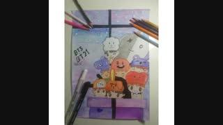نقاشی من از BT21