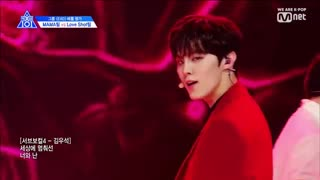 اجرای آهنگ loveshot  از  exo در برنامه  producex101