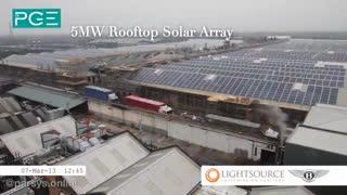 تایم لپس احداث نیروگاه خورشیدی شرکت بنتلی - پارسیس انرژی سبز