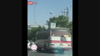 گذاشتن کولر گازی در شیراز روی اتوبوس خخخ