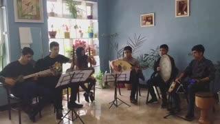 تمرین گروهی هنرجویان موسیقی
