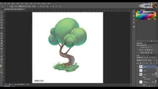 آموزش نقاشی دیجیتال انواع درخت | آموزش کاربردی کسب درآمد از طراحی دیجیتال