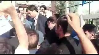 ورود دکتر احمدی نژاد به مراسم جشن میلاد حضرت معصومه(س)