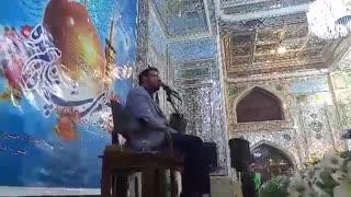 فرازی از تلاوت استاد حامد شاکرنژاد در آستان حضرت حسین بن موسی الکاظم(ع) طبس