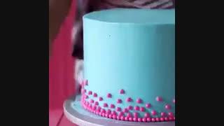 تزئین کیک با بادکنک