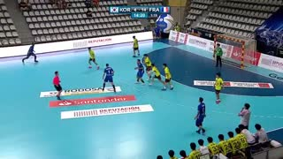 دیدار  تیم های ملی هندبال فرانسه و کره درقهرمانی جوانان جهان2019
