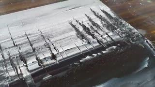 آموزش نقاشی انتزلعی با رنگ های سیاه و سفید