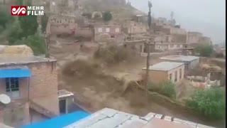 سیلاب سلماس آذربایجان غربی شنبه 12 مرداد ماه 98