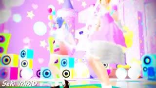 【MMD】Drop Pop candy【60 FPS】Sweet Lolita Rin + Kawaii Miku