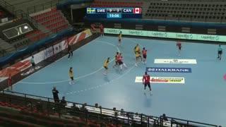 دیدار تیم های ملی هندبال سوئد و کانادا در قهرمانی نوجوانان جهان2019