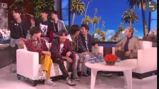 مصاحبه با بی تی اس با زیرنویس فارسی چسبیده interviews with BTS )Ellen show(