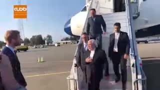 ورود ظریف به اسلو پایتخت نروژ در سومین مقصد سفر به اروپا