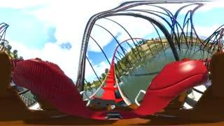 ویدیو ۳۶۰ درجه: تجربه ترن هوایی مجازی