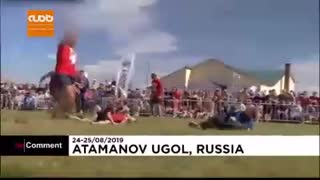 مسابقه سنتی عجیب روس ها