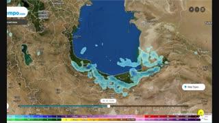 الگوی بارش 3 ساعته (میلی متر) تا روز یکشنبه 24 شهریور 98