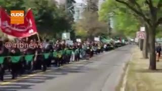 دسته سینه زنی ایرانیان در شهر تورنتو کانادا به مناسبت عاشورای حسینی