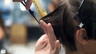 آموزش مدل مو کوتاه دخترانه حاشیه دار- مومیس مشاور و مرجع تخصصی مو