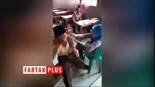 ترس عجیب یک دانش آموز هنگام واکسن زدن