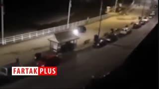 اقدام جنون آمیز راننده دیوانه در پیادهرو!