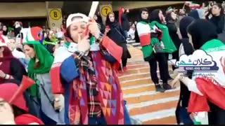 ورود تاریخی بانوان  به ورزشگاه آزادی