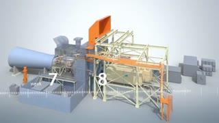 عملکرد توربین گازی در نیروگاه سیکل ترکیبی