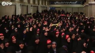 سرود همخوانی دانشآموزان و دانشجویان در حضور رهبر معظم انقلاب