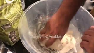 آموزش درست کردن نان لواش در سه سوت