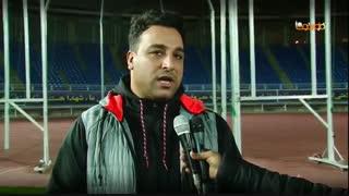 بازدید احسان حدادی قهرمان پرتاب دیسک جهان از استادیوم امام رضا (ع)