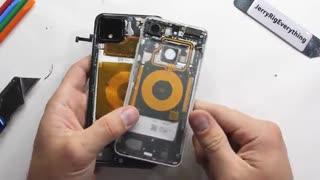 تماشا کنید: عملیات کالبدشکافی و شفافسازی قاب پشت پیکسل 4 XL گوگل